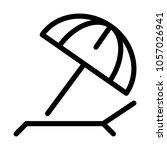 beach sunshade umbrella | Shutterstock .eps vector #1057026941