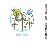 green technology  organic ... | Shutterstock .eps vector #1057029839