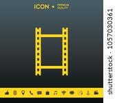 camera roll  photographic film  ... | Shutterstock .eps vector #1057030361