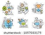 set of outline icons of... | Shutterstock .eps vector #1057033175