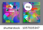 sets of abstract geometric... | Shutterstock .eps vector #1057035347
