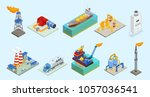 isometric natural gas industry... | Shutterstock .eps vector #1057036541