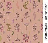 vector vintage seamless floral...   Shutterstock .eps vector #1057044254