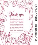 floral background. hand drawn... | Shutterstock .eps vector #1057044794