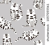seamless childish pattern with... | Shutterstock .eps vector #1057055561