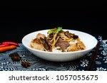 tasty beef vietnamese food bo...   Shutterstock . vector #1057055675