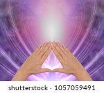 working with pyramid healing... | Shutterstock . vector #1057059491