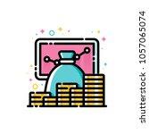 return on investment chart ...   Shutterstock .eps vector #1057065074