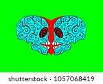 two skulls in love  abstract...   Shutterstock .eps vector #1057068419