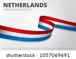flag of netherlands background. ... | Shutterstock .eps vector #1057069691