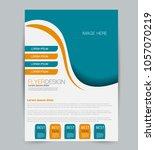 flyer template. design for a... | Shutterstock .eps vector #1057070219