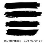 collection of hand drawn black... | Shutterstock .eps vector #1057070414
