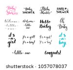 vector hand written brush words ... | Shutterstock .eps vector #1057078037
