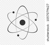 atom icon. vector illustration. | Shutterstock .eps vector #1057079627