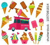 ice cream cartoon bright... | Shutterstock .eps vector #1057081814