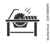 circular saw cutting wooden... | Shutterstock .eps vector #1057085894