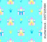 fairy tale castle child...   Shutterstock .eps vector #1057105484