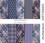 damask patterns set collection... | Shutterstock .eps vector #1057106651