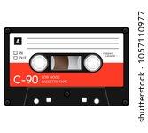 vintage audio cassette tape ... | Shutterstock .eps vector #1057110977
