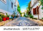 bozcaada streets view. bozcaada ... | Shutterstock . vector #1057113797
