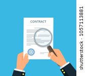 contract inspection for fraud... | Shutterstock .eps vector #1057113881