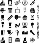 arts and enterteinment icons | Shutterstock .eps vector #105712031