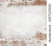 old concrete brick wall texture ... | Shutterstock . vector #1057123331