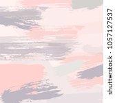 colorful brush strokes vector... | Shutterstock .eps vector #1057127537