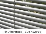 full frame detail of a grey window blind - stock photo
