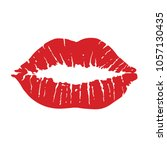 lips icon. kiss icon. red lips  ... | Shutterstock .eps vector #1057130435