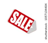 sale red tag icon template for...