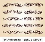 calligraphic elegant elements... | Shutterstock .eps vector #1057143995