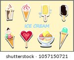 set of different types and... | Shutterstock .eps vector #1057150721