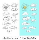 doodle collection  isolated... | Shutterstock .eps vector #1057167515