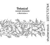 floral seamless vintage border. ... | Shutterstock .eps vector #1057173764