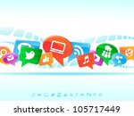 social network background of... | Shutterstock .eps vector #105717449