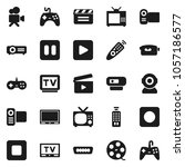 flat vector icon set   cinema... | Shutterstock .eps vector #1057186577