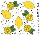 lemon mood. bright  ripe and... | Shutterstock .eps vector #1057191161