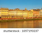 view across the arno river in... | Shutterstock . vector #1057193237