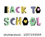 back to school hand drawn... | Shutterstock .eps vector #1057193549
