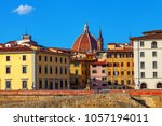 skyline view across florence to ... | Shutterstock . vector #1057194011