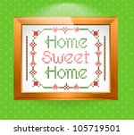 Home Sweet Home Sign. Vector