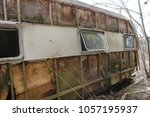 Old Rusty Camper Mobile Home O...