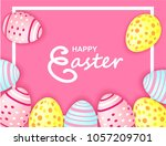 happy easter. celebration.... | Shutterstock .eps vector #1057209701