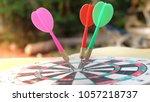 arrows hitting in the target... | Shutterstock . vector #1057218737