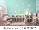 modern baby room interior with... | Shutterstock . vector #1057220057