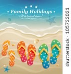 holiday greeting card with... | Shutterstock .eps vector #105722021