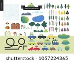 summer landscape constructor... | Shutterstock .eps vector #1057224365