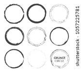 grunge circles set.vector... | Shutterstock .eps vector #1057225781