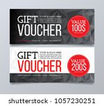 gift voucher design template.... | Shutterstock .eps vector #1057230251